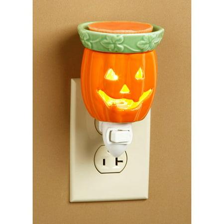 Flowers Wax Lantern - Ceramic Plug-In Wax Warmer: Jack-o'-Lantern Design
