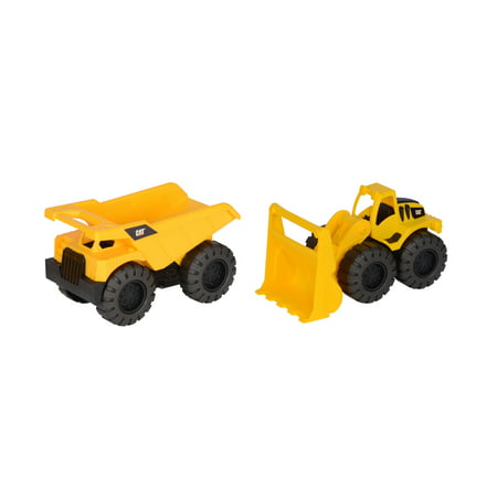 Cat Tough Trucks 2 Pack Dump Truck And Wheel