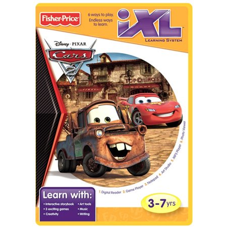 Fisher Price Ixl Learning System Software Disney Pixar Cars 2