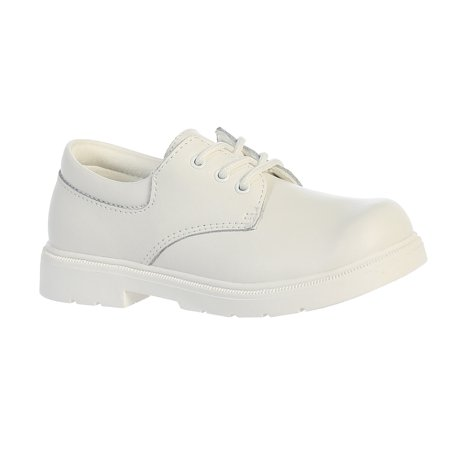 Boys White Genuine Leather Matte Finished Dress Shoes Boys White Dress Shoes