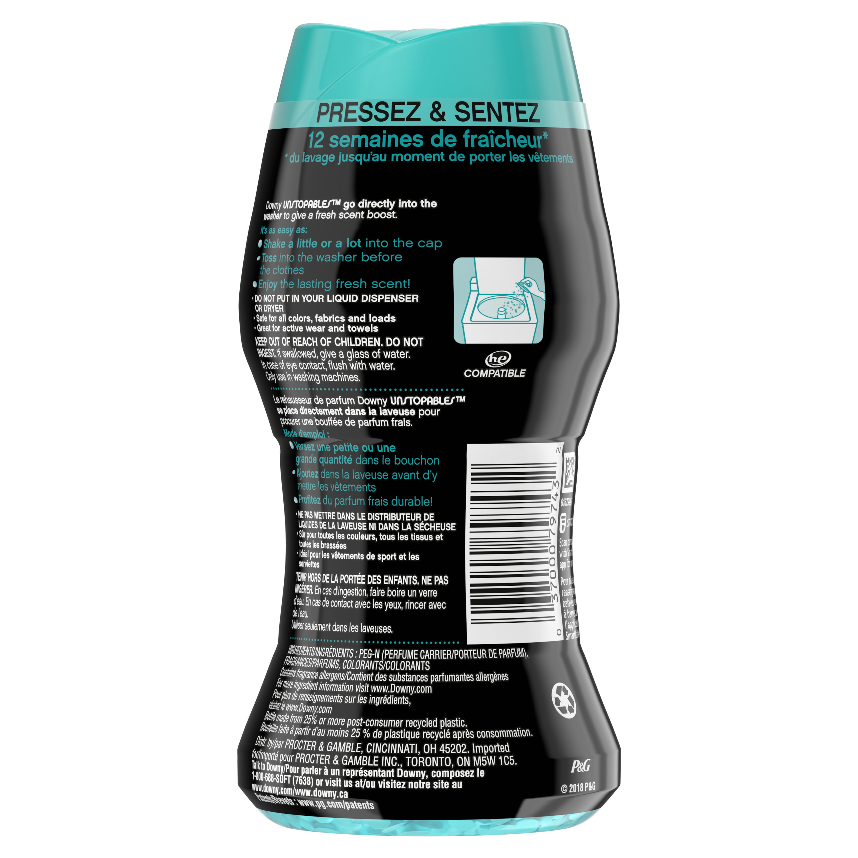 Downy Unstopables In Wash Scent Booster Beads Fresh 4 3 Oz Walmart Com Walmart Com