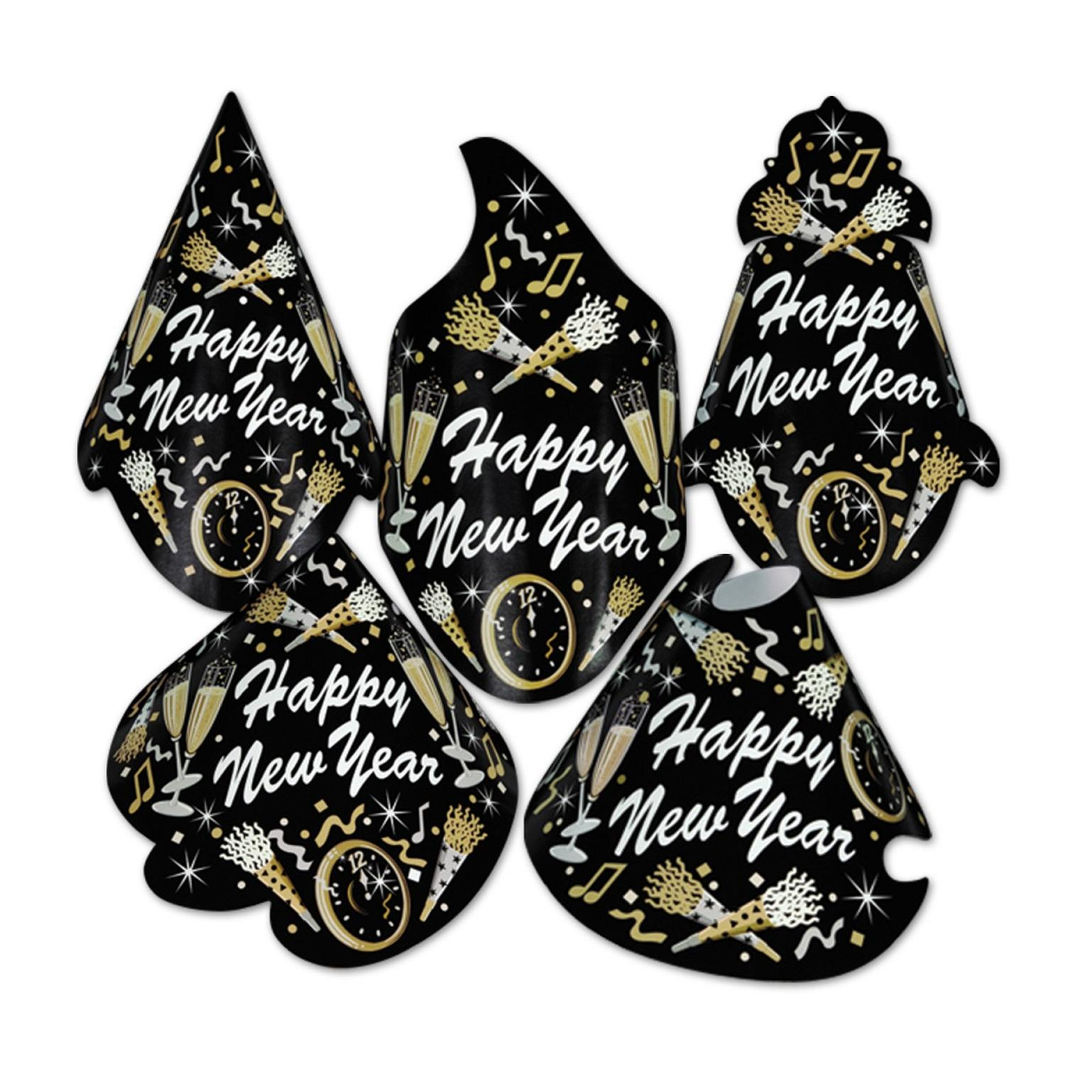 """Club Pack of 50 Tymes """"Happy New Years"""" Legacy Party Favor Hats"""