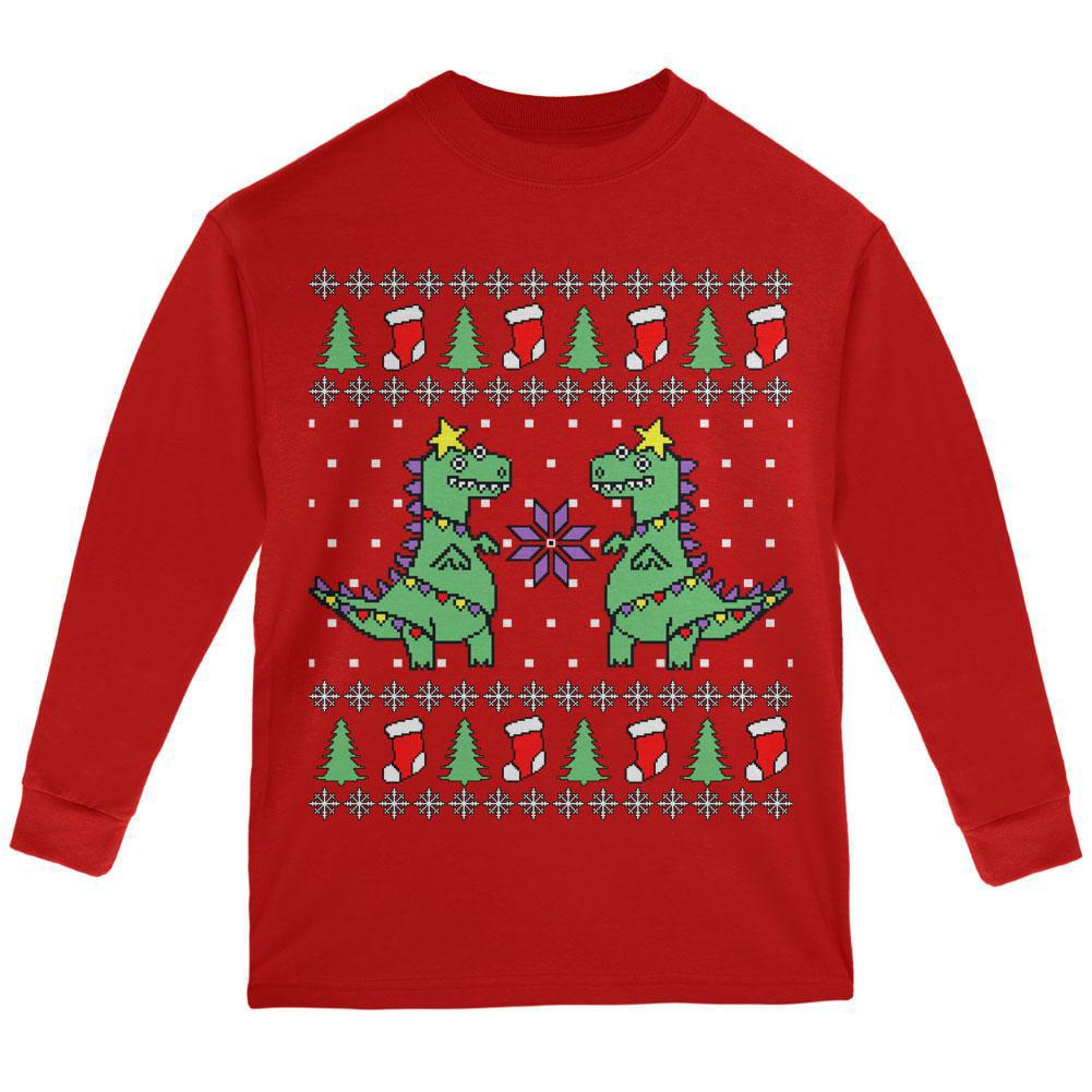 Zombie Santa Claus Ugly Christmas Boys Youth Kids Long Sleeve T-Shirt Tstars