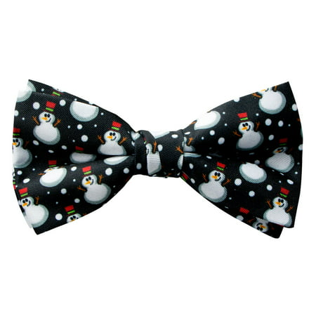 Spring Notion Men's Printed Microfiber Christmas Theme Pretied Bow Tie - Spring Prom Themes