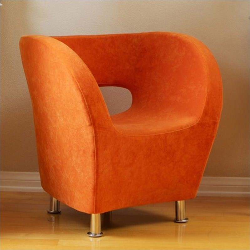 Trent Home Colleen Upholstered Accent Club Chair in Orange