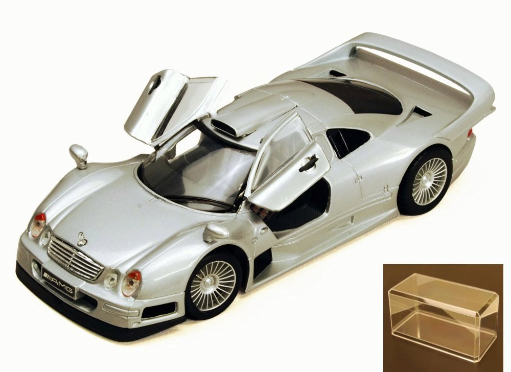Diecast Car & Accessory Package Mercedes-Benz CLK-GTR, Silver Maisto 34949 1 26 Scale... by Maisto