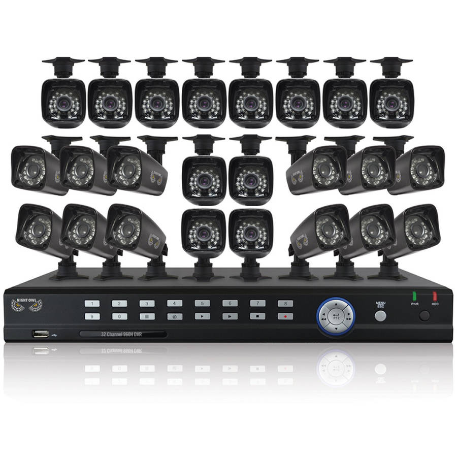 Night Owl B-F93224-700-2TB 32-Channel Video Security System with Twenty-Four 700 TVL Bullet Cameras