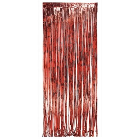 Shower Curtains christmas shower curtains walmart : Pack of 6 Dazzling Red Metallic Foil Christmas Hanging Door Fringe ...