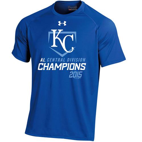 Kansas City Royals Under Armour 2015 AL Central Division Champions Tech T-Shirt - Royal
