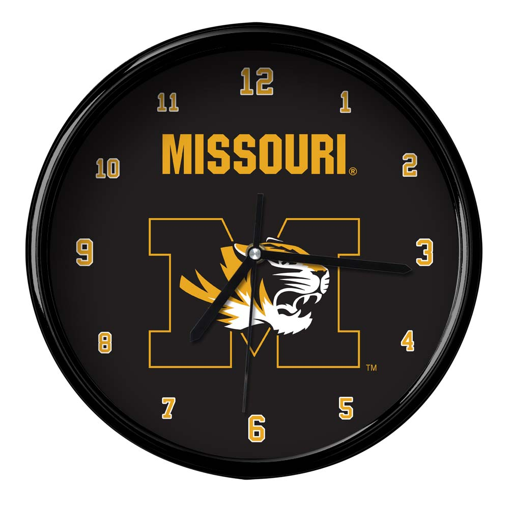 Missouri Black Rim Basic Clock