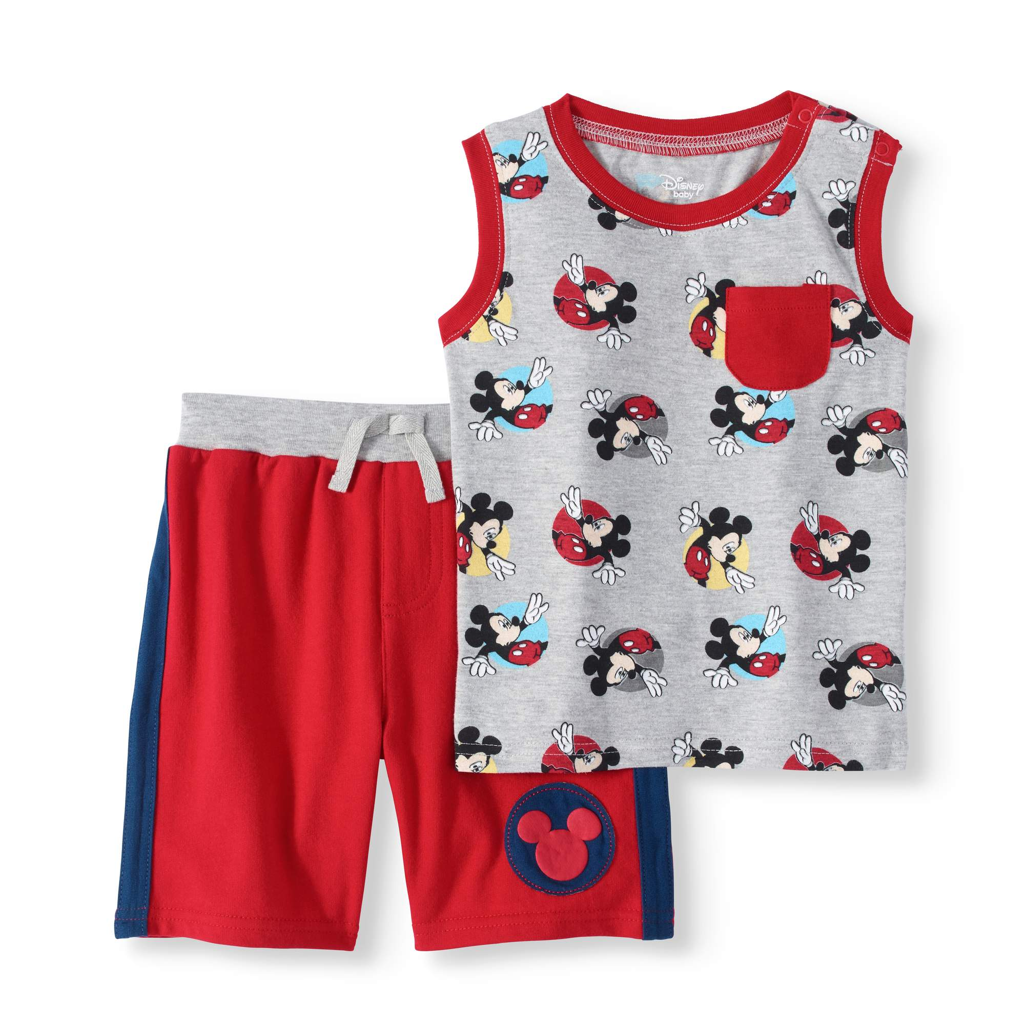 Baby Boy Tank Top & Shorts, 2pc Outfit Set