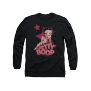Betty Boop Cartoon Sexy Star Adult Long Sleeve T-Shirt Tee