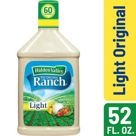Hidden Valley Original Ranch Light Salad Dressing & Topping, Gluten Free, Keto-Friendly - 52 Ounce Bottle