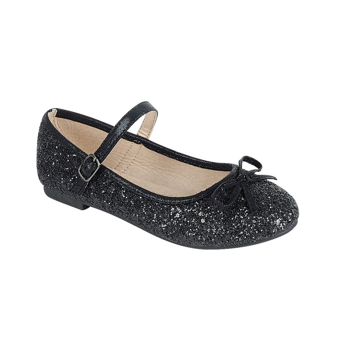 Link FP35 Girl's Glitter Bow Ballerina Party Dressed Flat Mary Janes