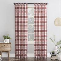 Mainstays Plaid Tab Top Curtain Panel