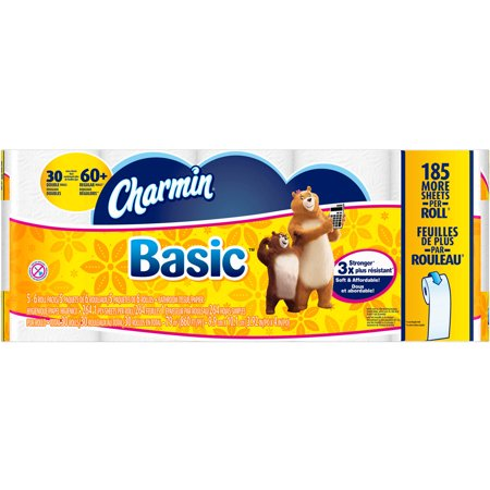 Charmin Basic Toilet Paper Double Rolls, 264 sheets, 30 rolls ...