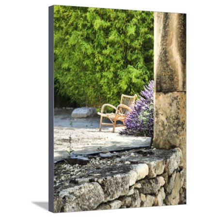 France, Provence. Outdoor Patio of the Saint-Hilaire Abbey Stretched Canvas Print Wall Art By Julie Eggers
