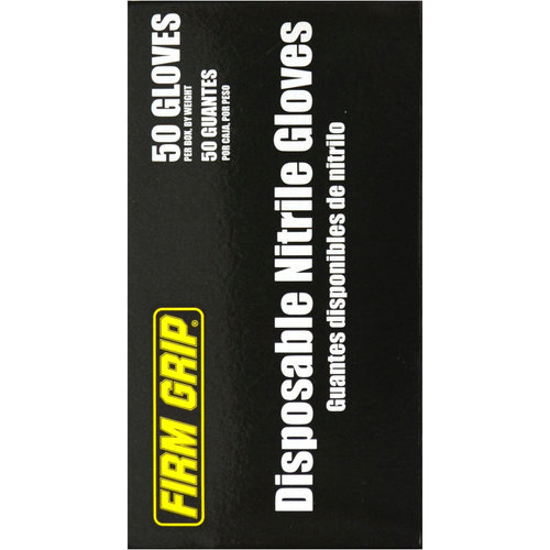 Firm Grip Nitrile Disposable Glove, 50ct