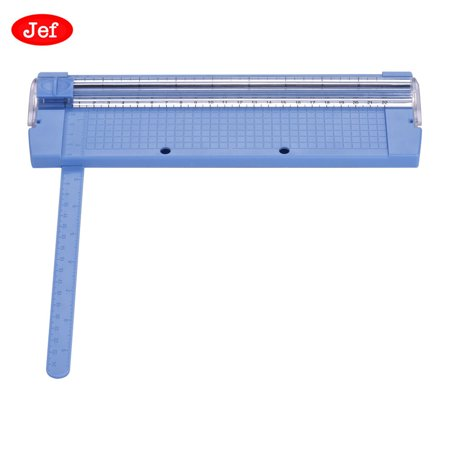 Jef 500S Portable Paper Trimmer A5 Paper Cutter Lightweight Safe Cutting Tool with Side Ruler and Surface Grid for Craft Paper Photos Cards ()