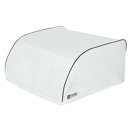 Classic Accessories OverDrive RV Cover - Air Conditioner Cover, Dometic Brisk II, Snow White The RV Air Conditioner Cover by Classic Accessories keeps weather, dirt and tree debris out of your RV air conditioner while blocking drafts. Sized to fit all major manufacturer RV air conditioners. When you buy a Classic Accessories RV cover you are not just getting a cover; youre also purchasing peace of mind. Not only will you be protected from the elements, but youll be protected with the easiest warranty in the industry. If your product fails within the warranty period, look for us online and take advantage of our Hassle-Free warranty program supported by our US-based customer service team.