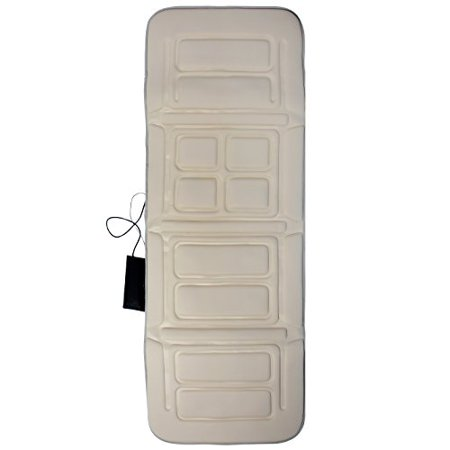 Mgt Body (Belmint Full Body Vibrating Massage Mat with Heating Pad, Beige)