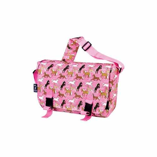 Horses in Pink Jumpstart Messenger Bag by Wildkin - 54020