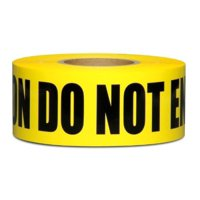 """Yellow Caution Do Not Enter Tape • 3"""" x 1000 ft • High Visibility • UV Resistant"""