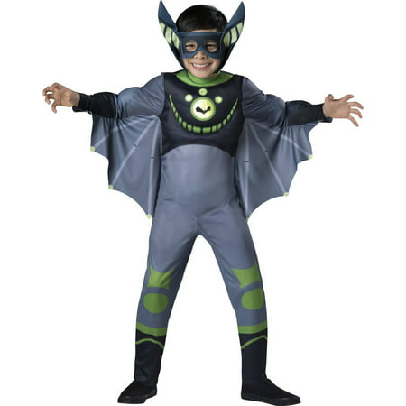 Wild Kratts Quality Bat Green Child Halloween Costume](Bat Clipart Halloween)