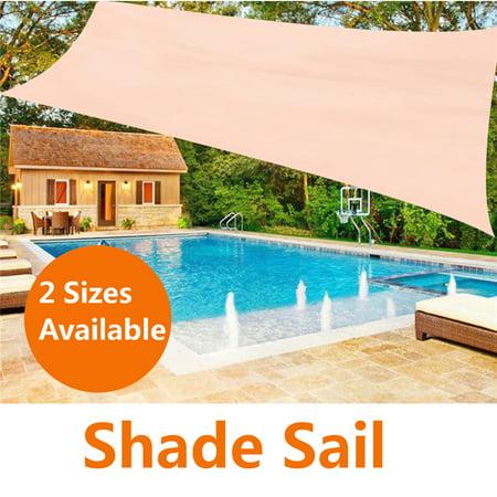 Rectangle Sand UV Block Sun Shade Sail Perfect for Outdoor Patio Garden Sunscreen Awning Canopy Screen 90%UV Block Top Cover ()