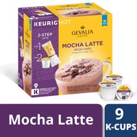 Gevalia Mocha Latte K Cup Espresso Pods with Latte Froth Packets, Caffeinated, 9 ct - 8.95 oz Box