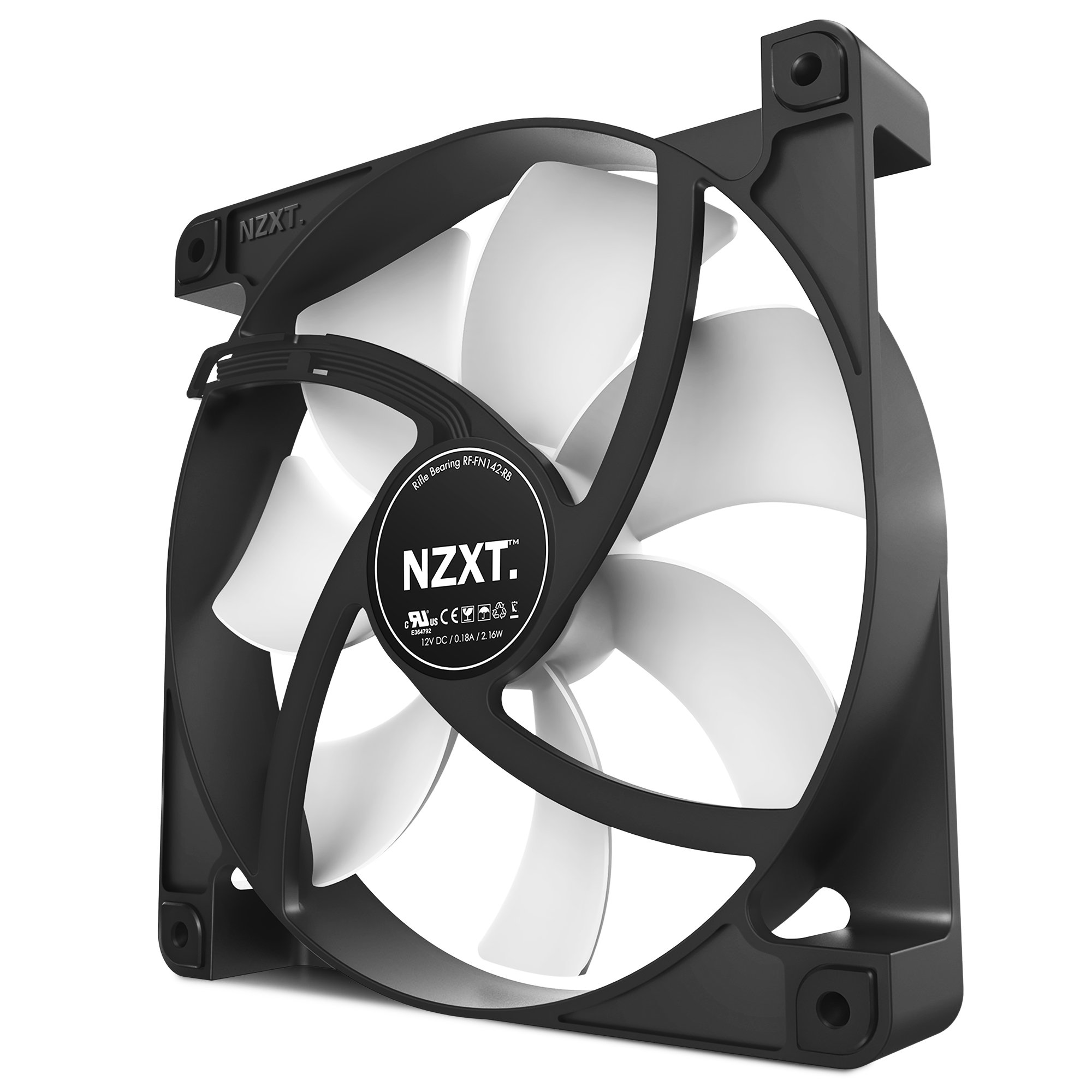Nzxt 140mm Performance Case Fan - 140 Mm - 1000 Rpm50 Cfm - 21 Db[a] Noise - Riffle Bearing - 3-pin - Rubber - 4.6 Year Life (152486)