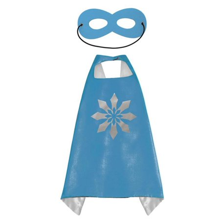 Cartoon Costume - Frozen Snowflake Cape and Mask with Gift Box by Superheroes - Frozen Costume Canada