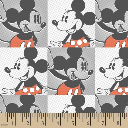 Disney Mickey and Minnie Vintage Mickey & Minnie Pop Art Cotton Fabric By The Yard](Wholesale Disney Fabric)