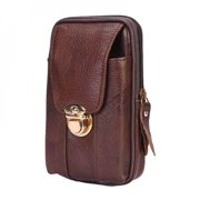 Portable Coin purse personality multi-purpose leather pockets outdoor brigade men's vertical pockets sports bag running bag