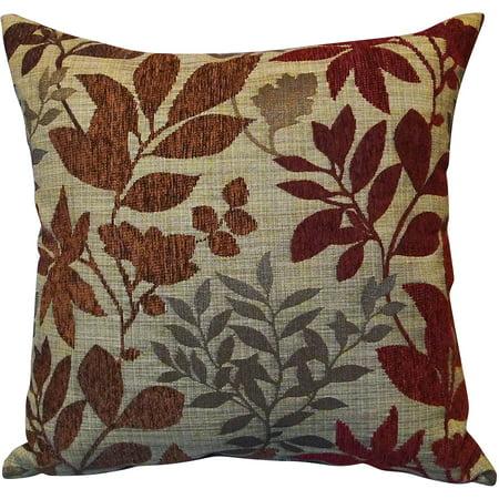 Better homes and gardens burgundy leaves toss pillow - Better homes and gardens pillows ...