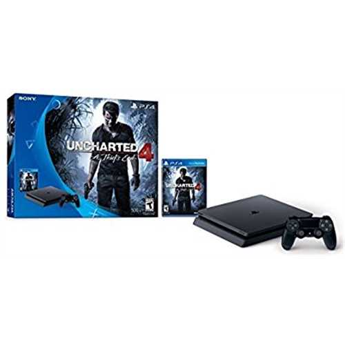 Refurbished PlayStation 4 Slim 500GB Console - Uncharted 4 Bundle