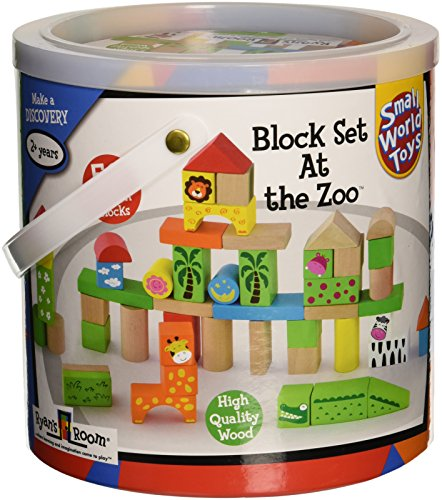 50 PC Block Set At The Zoo by
