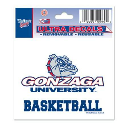 Gonzaga Bulldogs Decal 3  X 4    Basketball