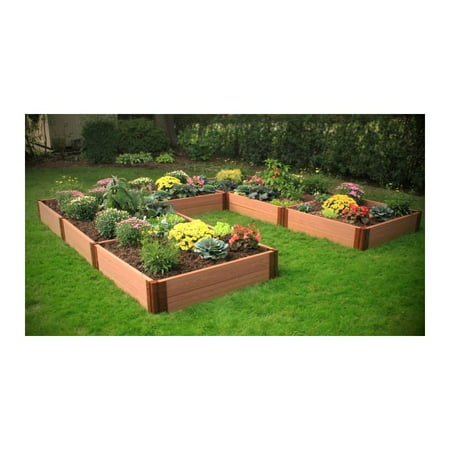 U Shaped Composite Wood Grain Timbers Raised Garden Bed