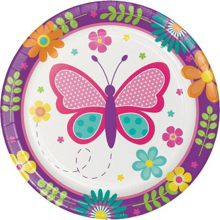 Creative Converting Butterfly Garden Dessert Plates, 8 ct