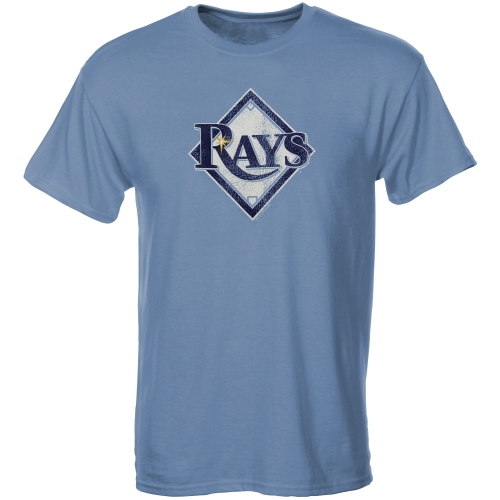 Tampa Bay Rays Youth Distressed Logo T-Shirt - Light Blue