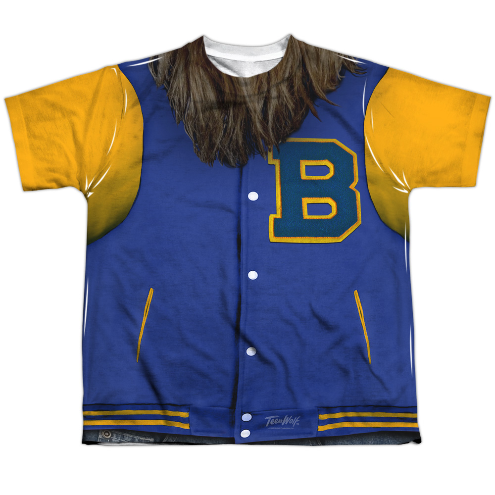 Teen Wolf Varsity Jacket (Front Back Print) Big Boys Sublimation Shirt