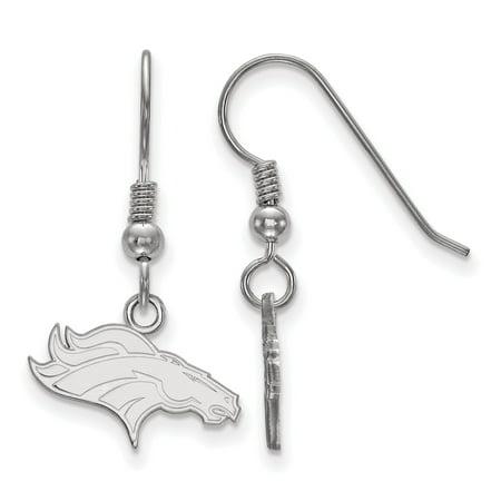 Denver Broncos Sterling Silver Small Logo Dangle Earrings - No Size Denver Broncos Silver Laser