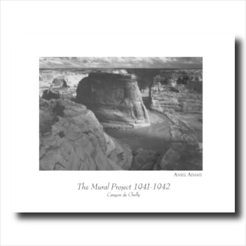 Ansel Adams Chelly B/W Photo Wall Picture Art Print