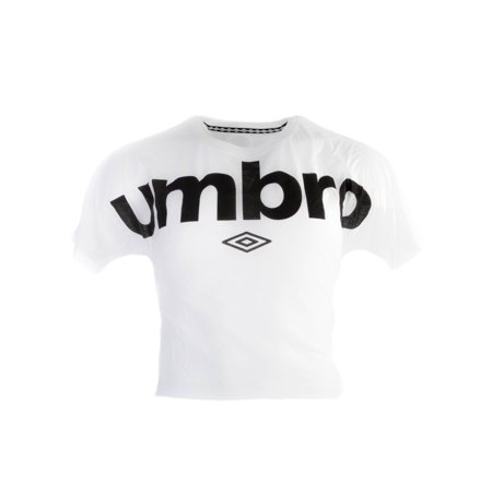 Short Sleeve Officially Licensed Umbro Graphic Midriff Tee - M - White ()