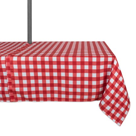 Design Imports Casual Rectangle Checkers Umbrella Outdoor