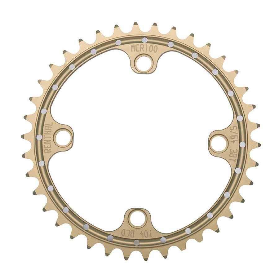 Renthal SR4 Chainring: 32t 104mm BCD Gold