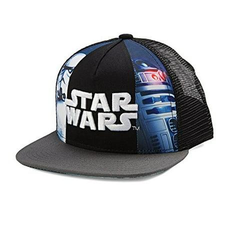 Star Wars Storm Trooper And R2d2 Design Snapback Cap