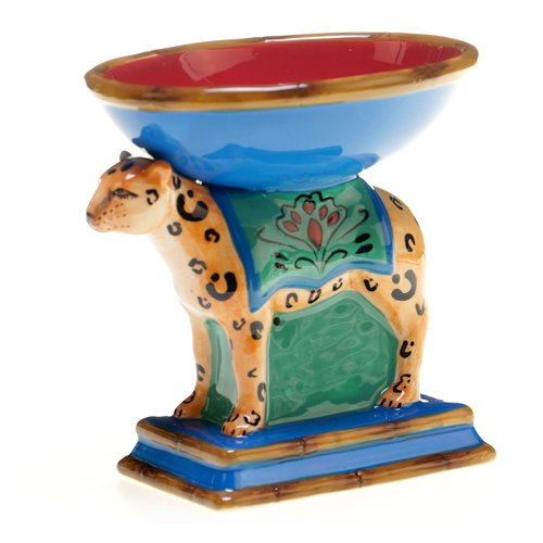 Tracy Porter Magpie 3-D Leopard Serving DIsh