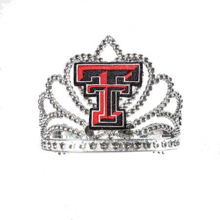 Divine Creations DVC-TIA9-TTU Texas Tech Red Raiders Ncaa Crown Tiara - Red Tiaras